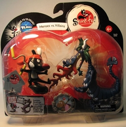 Skunk Fu! - Dragon vs Skunk 2-pack  + 1 Flingz Zizzle, Skunk Fu!, Action Figures, 2008, animated