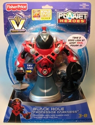 Fisher-Price Planet Heroes VoiceComm - Black Hole Prof Fisher-Price, Planet Heroes, Preschool, 2008, scifi, toy