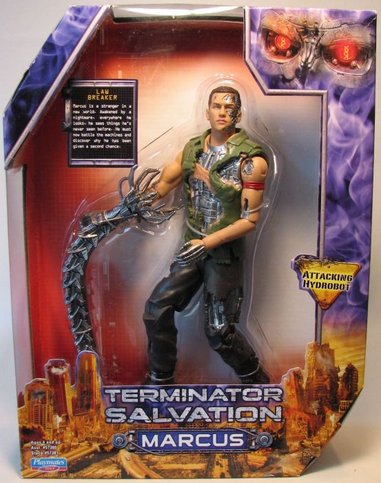 Terminator Salvation 9 inch fig - Marcus Playmates, Terminator, Action Figures, 2009, scifi, movie