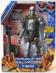 Terminator Salvation 9 inch fig - T-600 (light-up eyes) Playmates, Terminator, Action Figures, 2009, scifi, movie