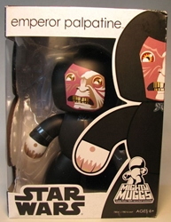 Mighty Muggs 6 inch Vinyl fig: Star Wars - Em Palpatine Hasbro, Star Wars, Action Figures, 2008, scifi, movie