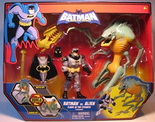 Batman (animated) Clash in the Cosmos: Batman vs Alien Mattel, Batman, Action Figures, 2009, superhero, comic book