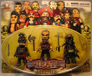 Mezco Mez-itz Pirate 3 inch figs 3-pack w Willie 1-eye