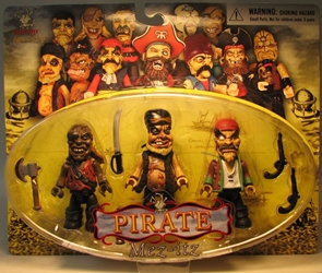 Mezco Mez-itz Pirate 3 inch figs 3-pack w Goldmouth