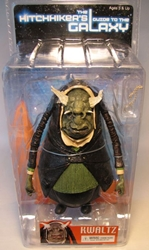 NECA Hitchhikers Guide to the Galaxy - 6 inch Kwaltz fig NECA, Hitchhiker, Action Figures, 2005, scifi, movie