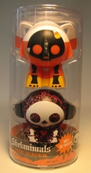 Skelanimals two 2.5 inch figs - Dax + spiderweb Marcy Jakks, Skelanimals, Action Figures, 2009, cute animals, art