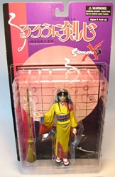 Samurai X - 6.5 inch Kamiya Kaoro fig (yellow kimono) Toycom, Samurai X, Action Figures, 2001, anime, japan