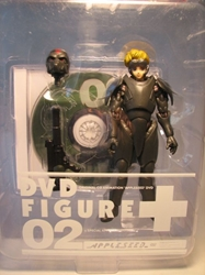 Appleseed DVD + Figure 02 - Duenan Knute 6 inch fig Toycom, Appleseed, Anime Figures, 2002, scifi, japan