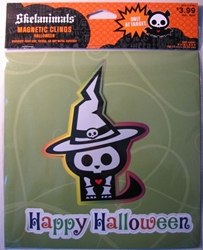 Skelanimals 8x8 Magnetic Cling - Skele-witch Target, Skelanimals, Decor, 2009, cute animals, art