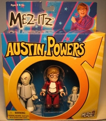 Mezco Austin Powers 3 inch Mez-Itzs: AP+Dr Evil+Mini-Me Mezco, Austin Powers, Action Figures, 2002, comedy, movie