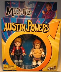 Mezco Austin Powers 3 inch Mez-Itzs: AP+Fat Bastard Mezco, Austin Powers, Action Figures, 2002, comedy, movie