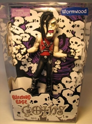 Bleeding Edge Goths 8 inch Series 1 Wormwood(red sht)  Bleeding Edge, Goths, Action Figures, 2003, fashion, counterculture