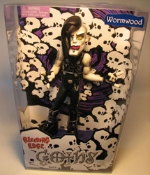 Bleeding Edge Goths 8 inch Series 1 Wormwood(blck sht) Bleeding Edge, Goths, Action Figures, 2003, fashion, counterculture