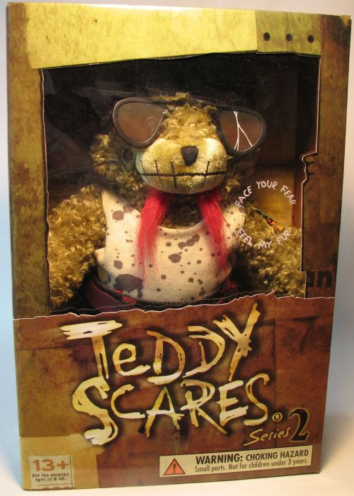 Teddy Scares 12 inch plush Eli Wretch Applehead Factory, Teddy Scares, Plush, 2005, horror, halloween, counterculture