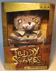 Teddy Scares 12 inch plush Granger Evermore (stripes) Applehead Factory, Teddy Scares, Plush, 2005, horror, halloween, counterculture