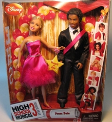 High School Musical 3 - Prom Date 2 dolls Sharpay+Zeke Mattel, High School Musical, Dolls, 2008, teen, tv show