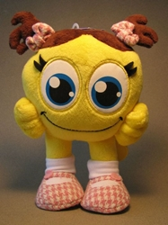 Cute SmileyCentral.com 7 inch plush Smiley - pigtails SmileyCentral, Smiley Cental, Plush, 2009, animated
