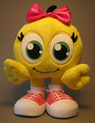 Cute SmileyCentral.com 7 inch plush Smiley - pink bow