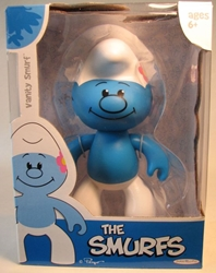 Smurfs - 6 inch Vinyl Figure - Rare Vanity Smurf Jakks, Smurfs, Action Figures, 2009, animated, cartoon, movie