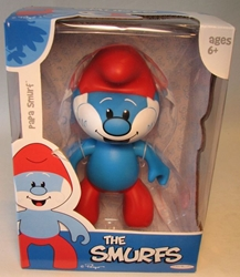 Smurfs - 6 inch Vinyl Figure - Rare Papa Smurf Jakks, Smurfs, Action Figures, 2009, animated, cartoon, movie