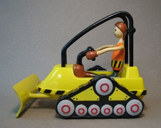 Bendos Bulldozer + Construction Worker Loose Kid Galaxy, Bendos, Action Figures, 1999, city life