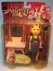 Muppets Series 1 Miss Piggy w Dressing Table 6 inch