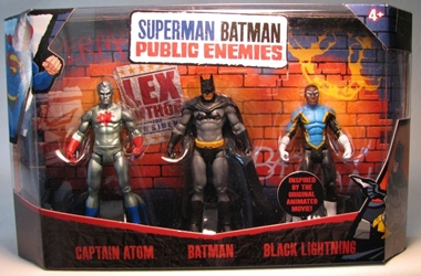 Superman Batman Public Enemies 3-pack w Capt Atom Mattel, Superman, Action Figures, 2009, superhero, comic book