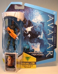 Avatar 4 inch Private Sean Fike w iTag Mattel, Avatar, Action Figures, 2009, scifi, movie