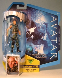 Avatar 4 inch Corp Lyle Wainfleet w iTag  Mattel, Avatar, Action Figures, 2009, scifi, movie