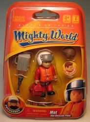 Mighty World 8532 Mat the Rescue Pilot Titanworks, Mighty World, Action Figures, 2009, adventure