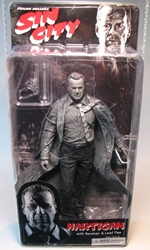 NECA Sin City Ser 1 Hartigan B/W (Bruce Willis) NECA, Sin City, Action Figures, 2005, crime, comic book