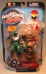Power Rangers RPM  5.75 inch Ranger Green Guardian Bandai, Power Rangers, Action Figures, 2009, scifi, tv show