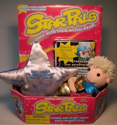Star Pals Zodiac Collection Aquarius plush+starchart Play Smart, Star Pals, Plush, 1998, astrology