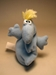 Rumpus  4.5 inch plush Eggel Light Blue LOOSE 1997   - 3028-142CCCFVG