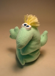 Rumpus  4.5 inch plush Eggel Pale Green LOOSE 1997   Rumpus, Eggels, Plush, 1997, cute animals