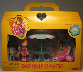Key Charm Cuties Daphnies Patio 1 fig 2000 Spin Master, Key Charm Cuties, Dolls, 2001, girls