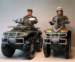 Beachfront ATV Fast Attack 12 inch marines + ATVs LOOSE Toy Century ATVs, Military, Action Figures, military