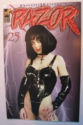 London Night  Comic - Razor #25 Photo Cover London Night, Razor, Comic Books, 1996, bad girl, girls, comic book