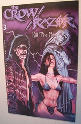 London Night  Comic - The Crow Razor Kill the Pain #3 London Night, Razor, Comic Books, 1998, bad girl, girls, comic book