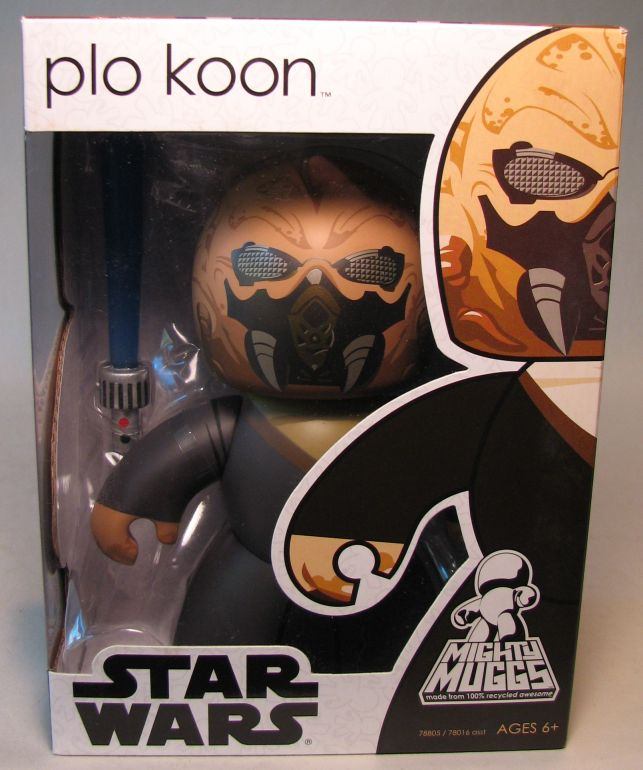 Mighty Muggs 6 inch Vinyl fig: Star Wars - Plo Koon Hasbro, Star Wars, Action Figures, 2008, scifi, movie