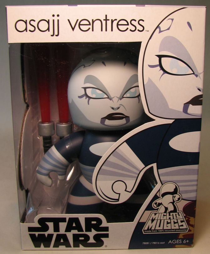 Mighty Muggs 6 inch Vinyl fig: Star Wars - Asajj Vent Hasbro, Star Wars, Action Figures, 2008, scifi, movie