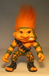 Battle Trolls 5 inch Sgt Troll 1992 Hasbro Vinyl LOOSE Hasbro, Battle Trolls, Action Figures, 1992, fantasy, warriors