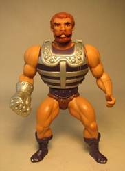 Masters of the Universe -  Fisto w chest armor 84 LOOSE Mattel, Masters of the Universe, Action Figures, 1983, fantasy, cartoon