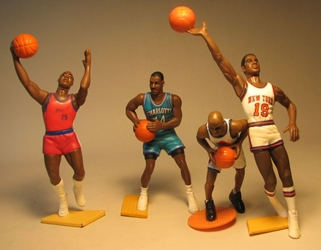 Kenner Starting Lineup NBA Basketball 4 fig lot LOOSE Kenner, Starting Lineup, Action Figures, sports