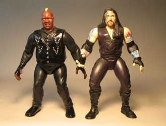 Jakks WWF WWE  figs 2TUFF5 Undetaker vs Viscera LOOSE Jakks, WWF WWE, Action Figures, 1999, wrestling