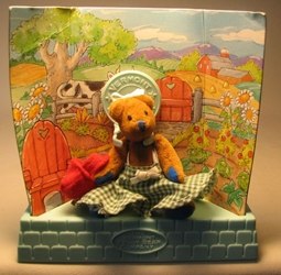 Vermont Teddy Bear Co Pocket Collection 3 inch Gardening  Bear LOOSE Tyco, Vermont Teddy Bear Co, Plush, 1995, family