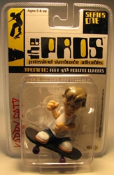The Pros Skateboarder 2.5 inch fig - Kerry Getz Toy Zone, The Pros, Tech Deck, 2003, sports