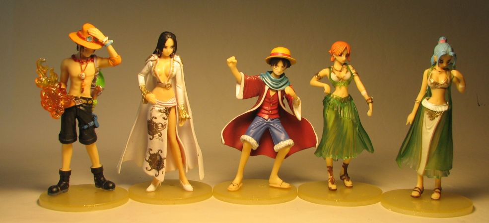 One Piece Bandai Styling Star Hero - Set of 5 figures Bandai, One Piece, Anime Figures, 2010, anime, japan