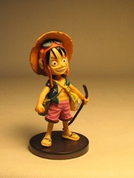 One Piece Banpresto Strong World 3 inch SD Luffy Banpresto, One Piece, Anime Figures, 2009, anime, japan