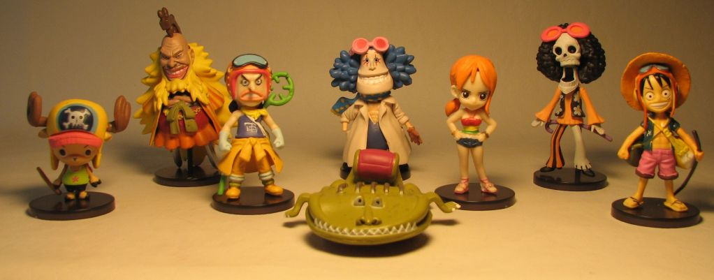 One Piece Banpresto Strong World - Set of 8  SD  figs Banpresto, One Piece, Anime Figures, 2009, anime, japan
